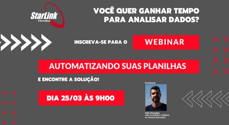 """""""Webinar e Tutorial: Automatizando Planilhas"""""""